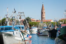 Picture From the port of Caorle, Pareus holidaymakers can go on excursions.